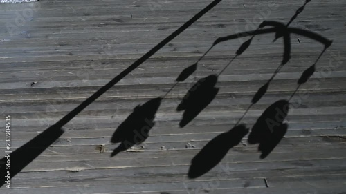 Baby Crib Mobileshadow On Wooden Floor Stock Footage And Royalty