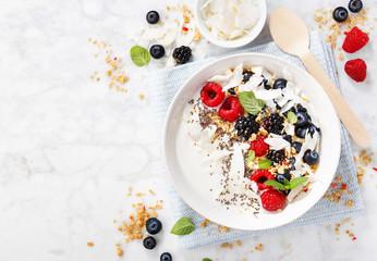 Yogurt bowl with fresh berries