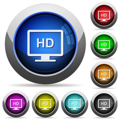 HD display round glossy buttons