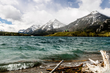 Middle Waterton Lake with Vimy Peak in the back ground, Waterton Lakes, National Park, Alberta, Canada