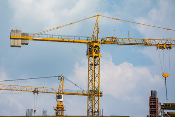 crane on a large industrial site