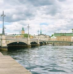 Stadtansicht von Stockholm, Schweden