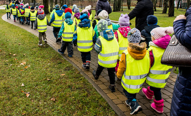 Kindergarten on walk