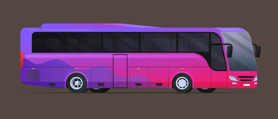 Big tour bus. Flat vector illustration Fotobehang
