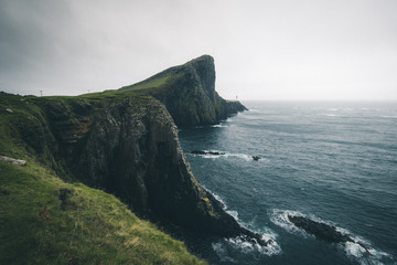 Scottish cliffs at Neist Point.