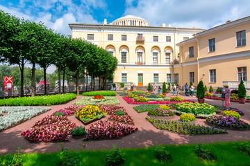 Private garden of Pavlovsky palace in Pavlovsk, St. Petersburg, Russia
