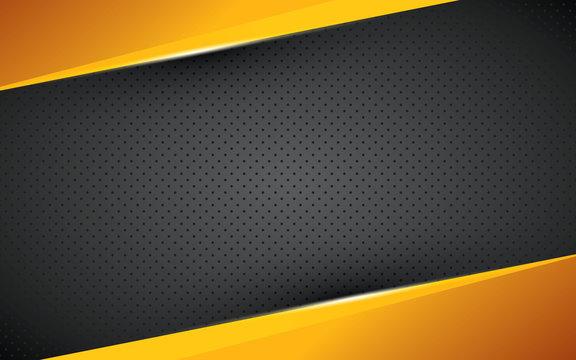 Yellow geometric background overlap layer on black