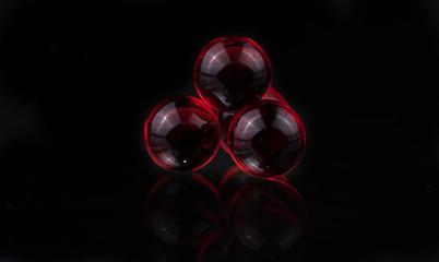 Small red medicine capsules containing nitroglycerin, validol