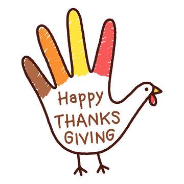 Thanksgivings hand turkey