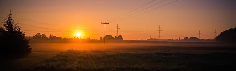 Beautiful sunrise near Aholming - Bavaria - Germany