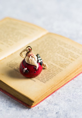 Christmas decoration, 'Santa Claus' on a open book