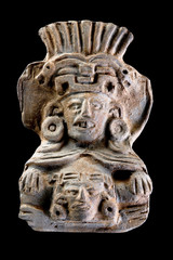 Pre Columbian Deity Urn.