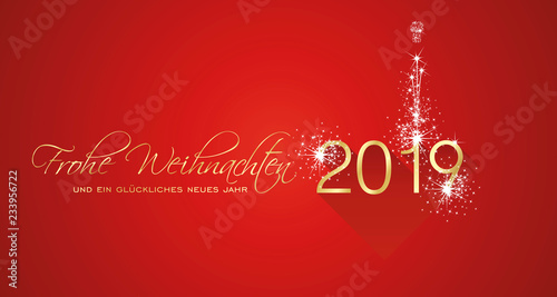How Do You Say Merry Christmas In German.Merry Christmas Beautiful Calligraphy New Year 2019 German