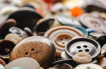 Old buttonsCollection of used, old buttons for handcrafting
