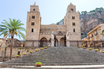The Cathedral of Cefalu (Duomo di Cefalu), Sicily, Italy.