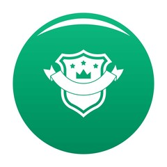 Badge quality icon. Simple illustration of badge quality vector icon for any design green