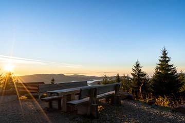 Fototapete - Sonnenuntergang am Buchkopfturm