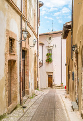 Picturesque sight in Trevi, ancient village in the Umbria region of Italy.