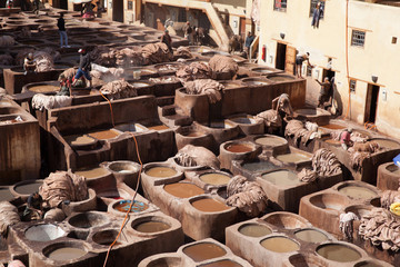 Leather tannery, Fez, Morocco, 2017