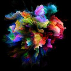 Advance of Colorful Paint Splash Explosion