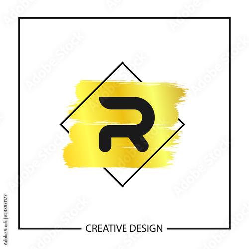 initial letter r logo template vector design