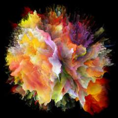 Metaphorical Colorful Paint Splash Explosion