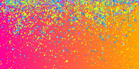 Confetti on isolated background. Bright explosion. Abstract colored firework. Geometric texture with colorful glitters. Image for banners, posters and flyers. Greeting cards