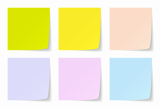 Color Post-it Background, Vector Graphics