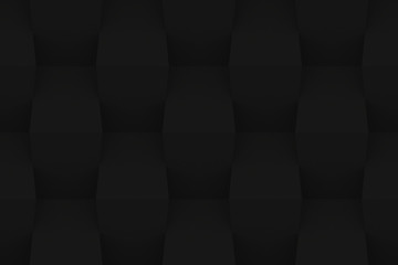 Black Geometric Abstract Background. 3D Render Background