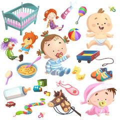 bebe ilustracion set