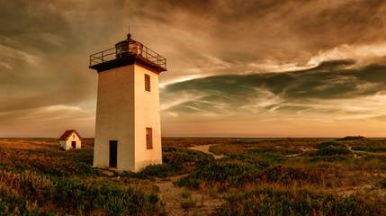 Foto auf AluDibond Leuchtturm Wood End lighthouse in Provincetown, Massachusetts, USA.