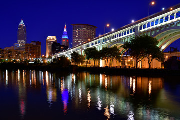 Downtown Cleveland Skyline on the Cuyahoga River