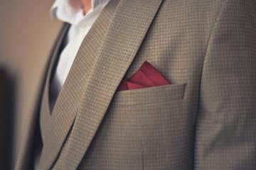 detail of man suit