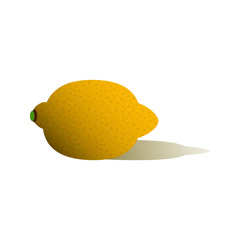 Single lemon with shadow