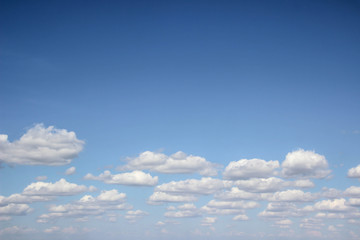Sky with white clouds pattern background.