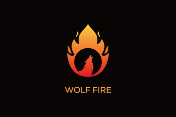 WOLF FIRE LOGO DESIGN