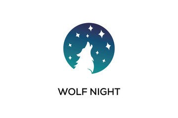 WOLF NIGHT LOGO DESIGN