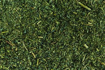 Heap green tea taxture full frame. Wall mural