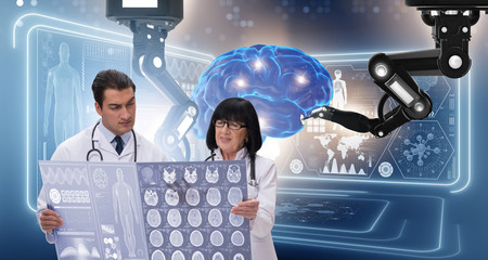 Two doctors in telemedicine concept