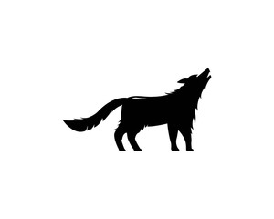 Wolf Logo vector icon illustration design