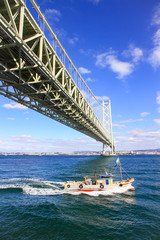 明石海峡大橋明石海峡大橋と漁船