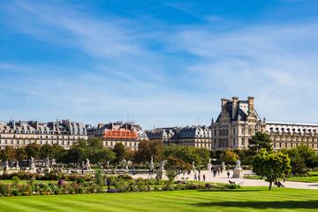 Blick auf den Jardin des Tuileries in Paris, Frankreich