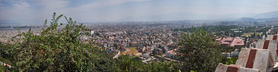 Kathmandu Swayambhu Stupa Panorama über Kathmandu