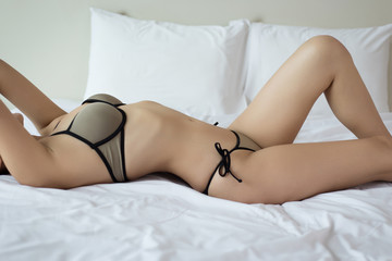 sexy young woman model in sexy bikini