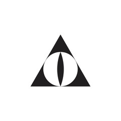 triangle eye symbol logo vector