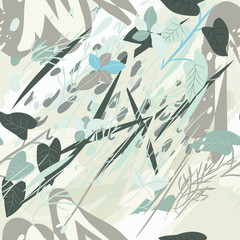 Printed roller blinds Geometric animals Military camouflage texture with trees, branches, grass and watercolor stains. Vector illustration. Camouflage military background in modern style.
