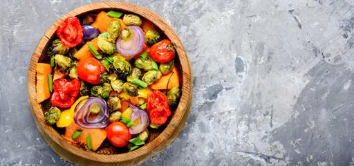 Baked vegetable salad