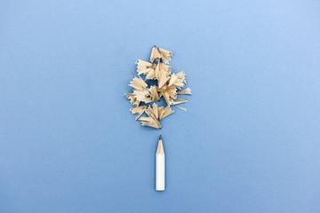 Bleistift spitzen mit Späne