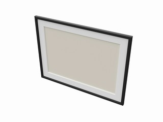 Picture frame with passepartout.