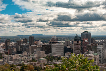Montreal skyline financial district
